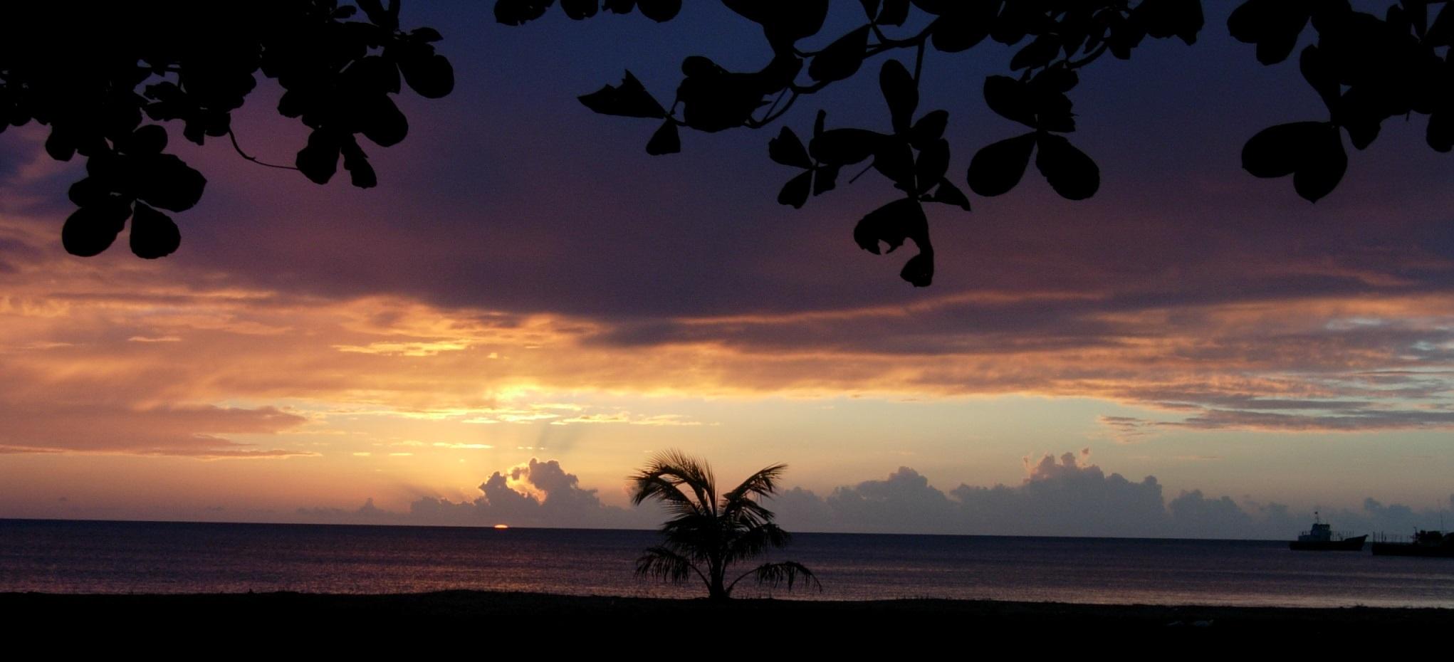 Uno de los muchos atardeceres hermosos que se pueden disfrutar en Corn Island. Foto | Cortesía | Martha Solano