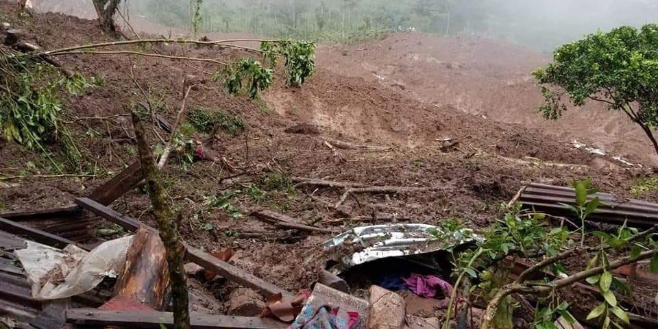Deslizamiento en el Macizo de Peñas Blancas, Municipio Tuma La Dalia. Cortesía