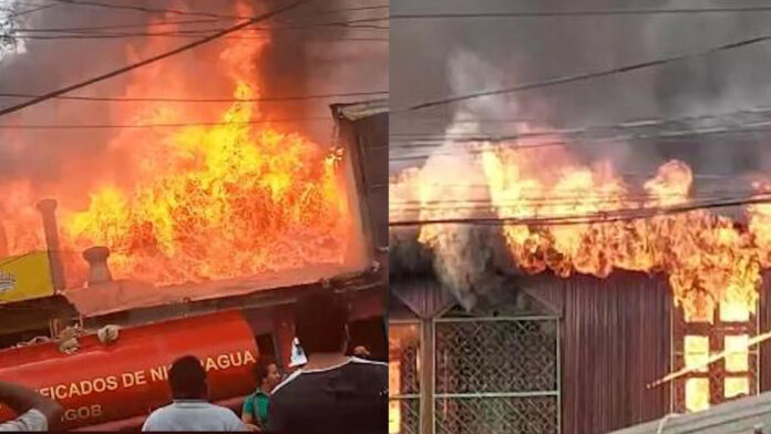 El incendio se originó tras la explosión de una planta eléctrica. Cortesía
